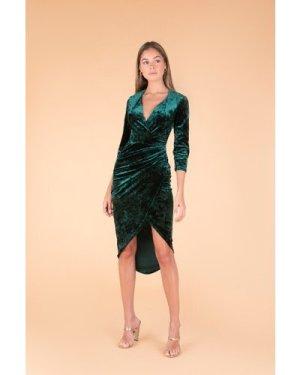 TFNC Jayda Green Velvet Midi Dress