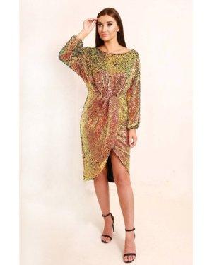 TFNC Rosae Multi Sequin Midi Dress