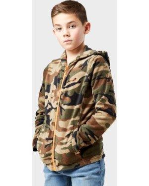 Peter Storm Kid's Full-Zip Camo II Fleece, Multi/KHK