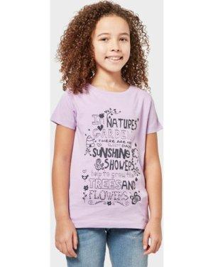 Peter Storm Kids' Nature's Garden T-Shirt, Purple/Light Purple