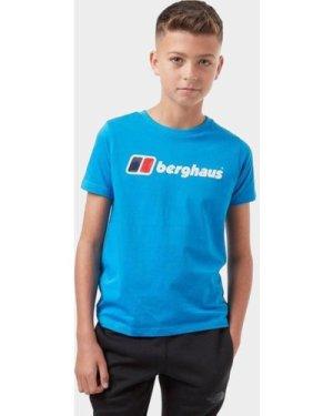 Berghaus Kids' Logo T-Shirt, Blue/Blue