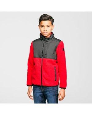 Regatta Kids' Myles Full-Zip Fleece, Red/Black