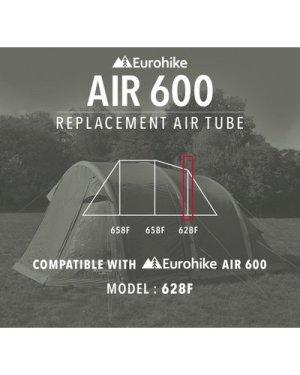 Eurohike Air 600 Replacement 628F Air Tube, Silver/PVC
