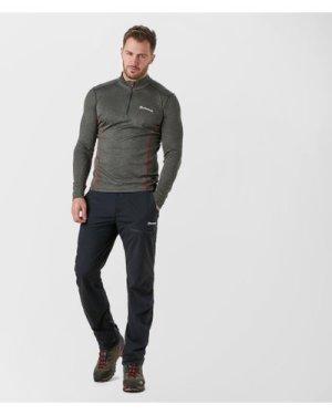 Montane Men's Dart Zip T-Shirt, Grey/Grey