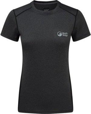 North Ridge Womens Resistance Short Sleeve Baselayer, Grey/Black