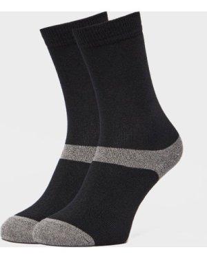 Peter Storm Unisex Multiactive Coolmax Liner Sock - Twin Pack - Black, Black