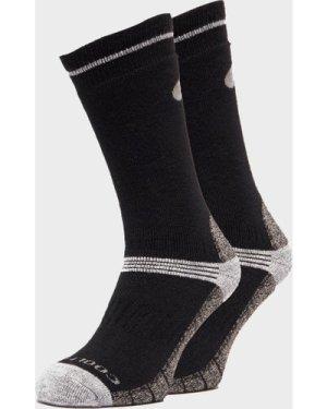 Peter Storm Men's Midweight Outdoor Socks - Twin Pack - Black/Blac, Black/BLAC