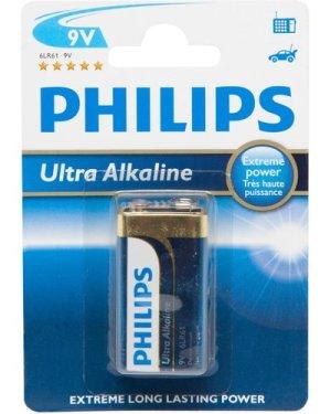 Phillips Ultra Alkaline 9V 6Lr61 Battery - Multi, Multi