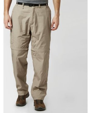 Craghoppers Men's Kiwi Zip-Off Trousers - Beige/Brown, Beige/Brown