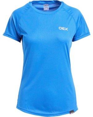 Oex Women's Breeze Base Short Sleeve T-Shirt - Blue/Bl, Blue/BL