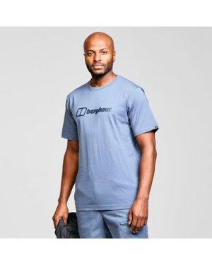 Berghaus Men's Short Sleeve Big Logo T-Shirt - Blue/Blue, Blue/Blue