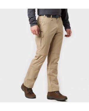 Brasher Men's Double Zip Off Trousers - Beige/Stn, Beige/STN