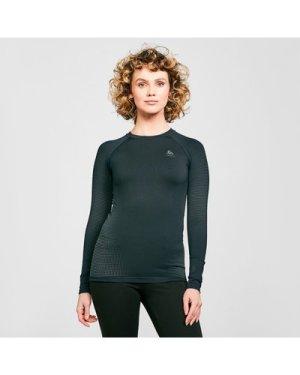 Odlo Women's Performance Warm Long Sleeve Base Layer Top - Black/Blk, Black/BLK