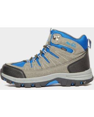 Peter Storm Kids' Dovedale Waterproof Mid Hiking Boot - Grey/Gy/Blu, Grey/GY/BLU