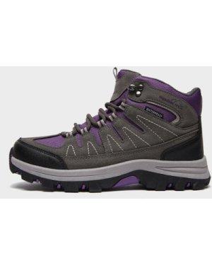 Freedomtrail Kid's Dovedale Waterproof Mid Hiking Boots - Gy/Pup/Gy/Pup, GY/PUP/GY/PUP