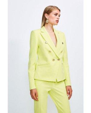 Karen Millen Tailored Button Military Blazer -, Green