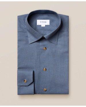 Dark Blue Wrinkle-Free Flannel Shirt