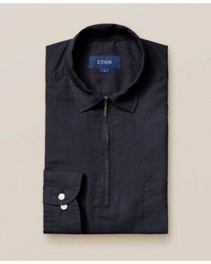 Dark Blue Half-Zip Shirt