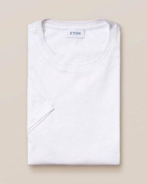 White Filo di Scozia Cotton T-Shirt