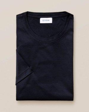Dark navy Filo di Scozia Cotton T-Shirt