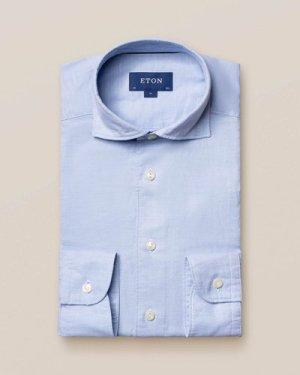 Light Blue Cotton and Silk Shirt