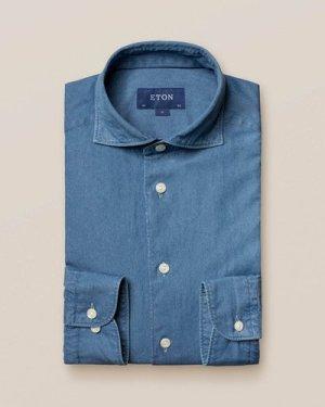 Mid Blue Lightweight Denim Shirt