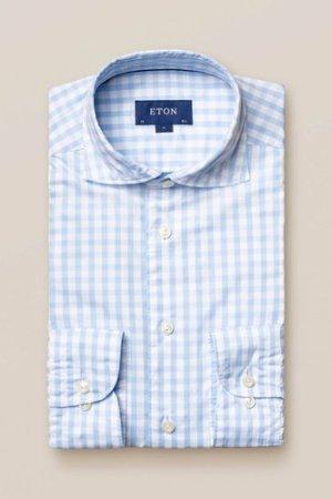 Light Blue Gingham Shirt