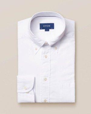 White Lightweight Flannel Shirt