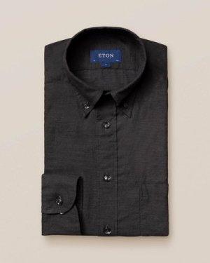 Black Lightweight Flannel Shirt