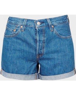 Women's Levis 501 Roll Shorts Blue, Blue