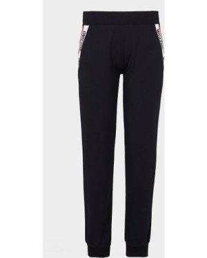 Women's Moschino Back Logo Tape Track Pants Black, Black
