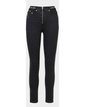 Women's Calvin Klein Jeans High Rise Tape Skinny Jeans Black, Black