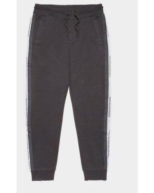 Men's Emporio Armani Logo Tape Fleece Pants Black, Black