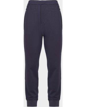 Men's Armani Exchange Core Jersey Cuffed Track Pants Blue, Navy/Navy