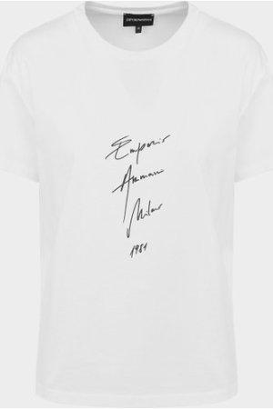 Women's Emporio Armani Signature Logo T-Shirt White, White