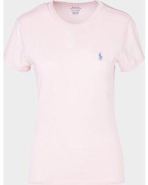 Women's Polo Ralph Lauren Polo Player Short Sleeve T-Shirt Pink, Pink