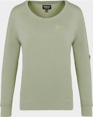 Women's Barbour International Chequers Sweatshirt Green, Green