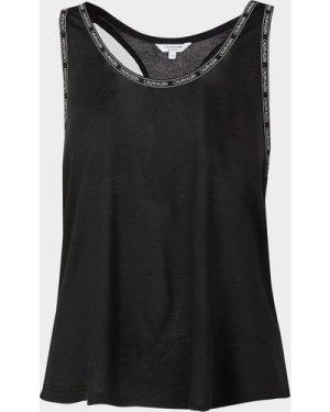 Women's Calvin Klein Underwear Logo Trim Tank Top Black, Black