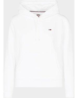 Women's Tommy Jeans Fleece Hoodie White, White