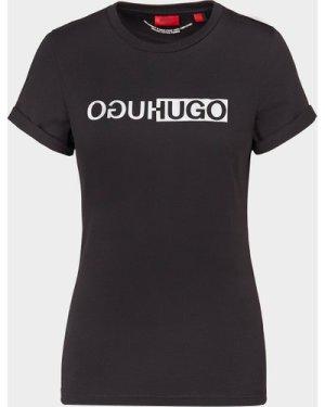 Women's HUGO Reflective T-Shirt Black, Black