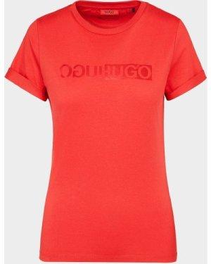 Women's HUGO Reflective T-Shirt Red, Red