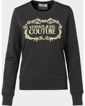 Women's Versace Jeans Couture Logo Sweatshirt Black, Black