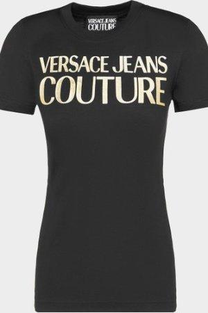 Women's Versace Jeans Couture Logo T-Shirt Black, Black/Black