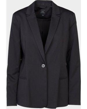Women's Armani Exchange Smart Blazer Black, BLK/BLK