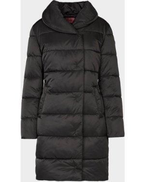 Women's HUGO Long Puffer Jacket Black, Black