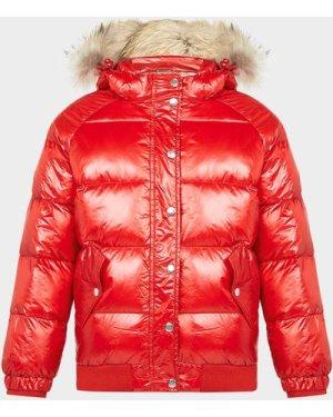 Pyrenex Shiny Aviator Padded Jacket Red, Red