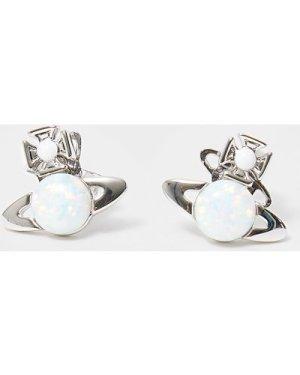 Women's Vivienne Westwood Isabelta Brass Earrings Silver/White, Silver/White