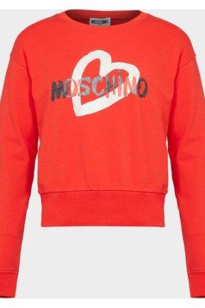 Kid's Moschino Heart Sweatshirt Red, Red