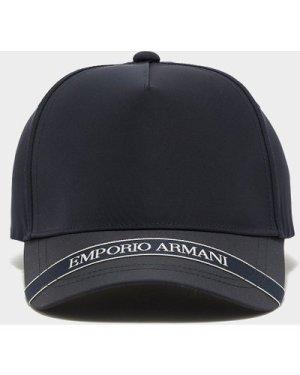 Men's Emporio Armani Peak Logo Cap Black, Black/Black