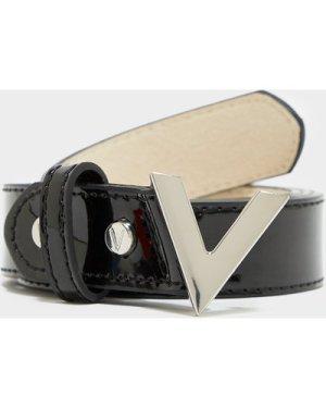 Women's Valentino Bags Forever Patent Belt Black, Black